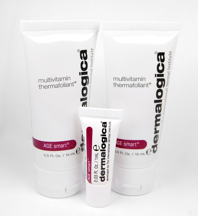 Das Dermalogica AGE smart Multivitamin Thermafoliant und die AGE smart Renewal Lip Complex Lippenpflege.