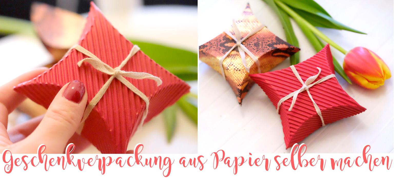 DIY: Geschenkverpackung aus Papier selber machen