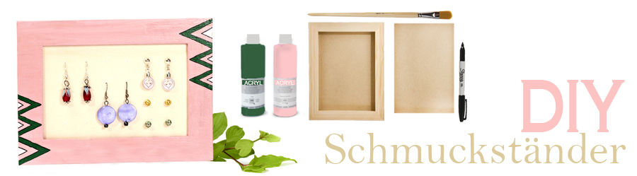diy schmuckst nder f r ohrringe. Black Bedroom Furniture Sets. Home Design Ideas