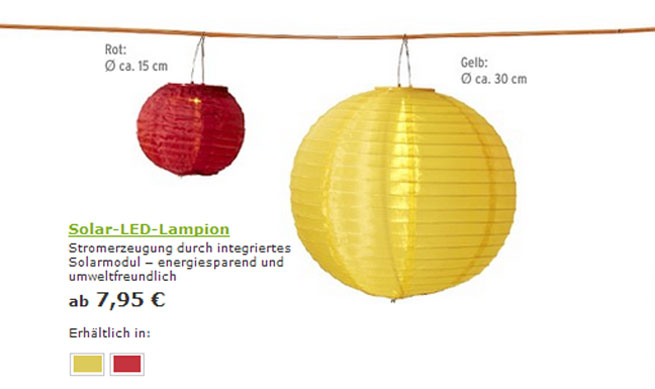 Tchibo Solar-LED-Lampion