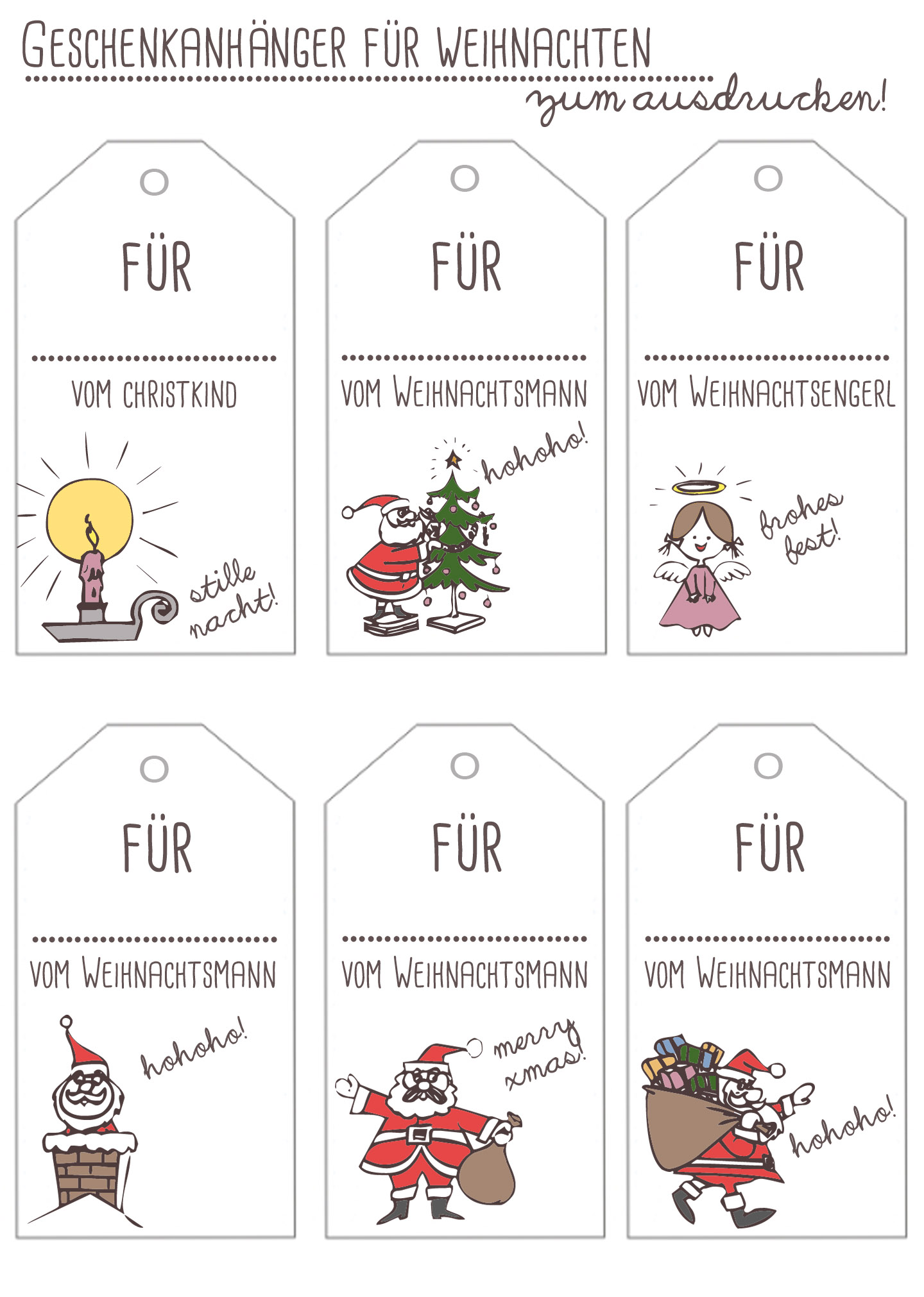free printables geschenkanh nger f r weihnachten. Black Bedroom Furniture Sets. Home Design Ideas