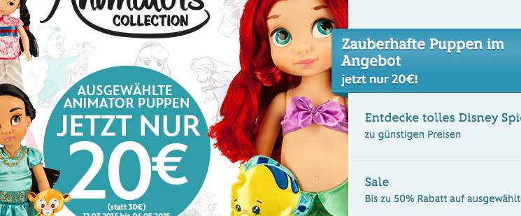 disneystore.de April 2020