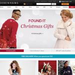 Debenhams UK Fashion Screenshot