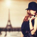 Frau mit französischer Mode