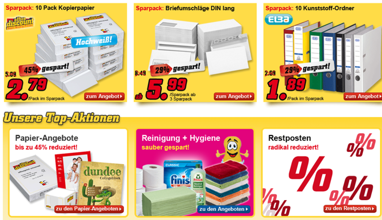 office discount Produkte