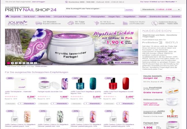 gutschein pretty nail shop 24