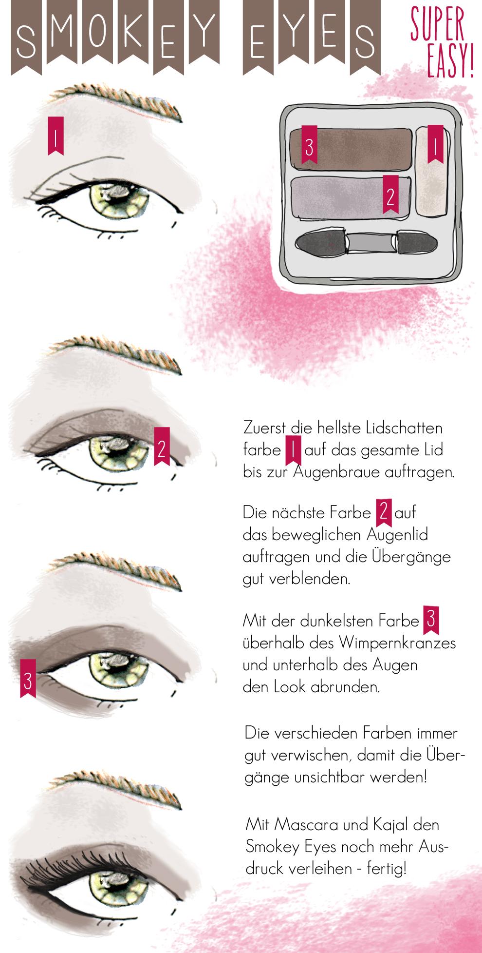 anleitung smokey eyes:
