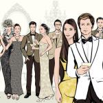 Illustration mit Mode-Stilen